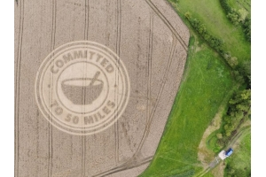 Crop circle created to raise awareness of locally produced food